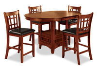 Dalton 5-Piece Oak Counter-Height Dining Package