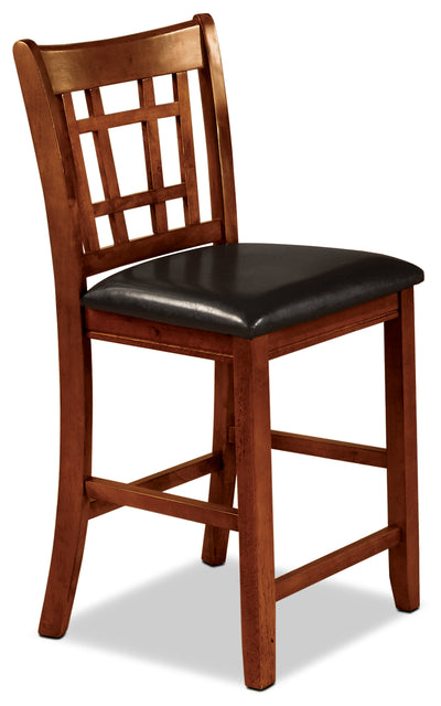 Dalton Oak Counter-Height Chair - Contemporary style Dining Chair in Oak Asian Hardwood and Oak Veneers