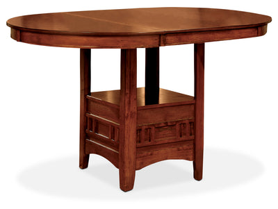 Dalton Oak Counter-Height Table - Contemporary style Dining Table in Oak Asian Hardwood and Oak Veneers