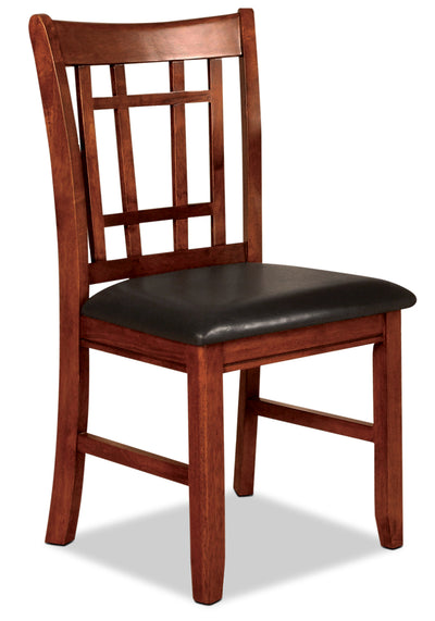 Dalton Oak Side Chair - Contemporary style Dining Chair in Oak Asian Hardwood and Oak Veneers