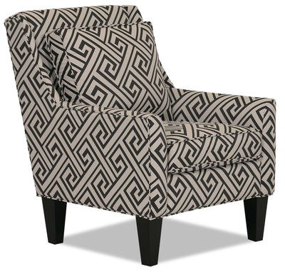 Designed2B Fabric Low-Profile Wing Accent Chair - Domino|Fauteuil d'appoint à oreilles à profil bas Design à mon image en tissu - Domino|13041606