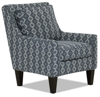Designed2B Fabric Low-Profile Wing Accent Chair - Azure