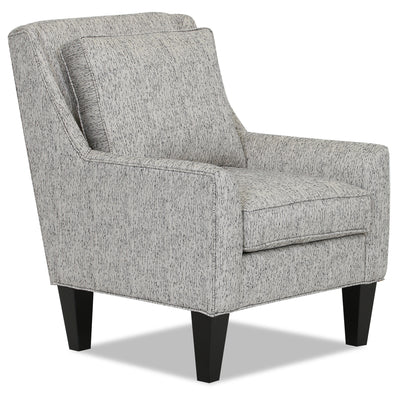 Designed2B Fabric Low-Profile Wing Accent Chair - Spa - {Contemporary} style Chair in Spa {Solid Hardwoods}