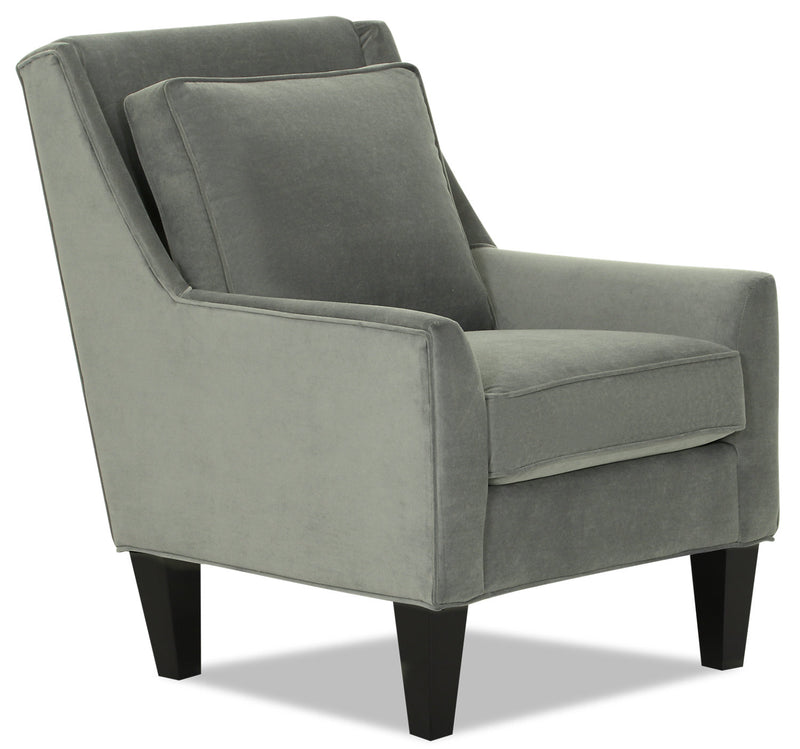 Designed2B Velvet Low-Profile Wing Accent Chair - Kira Platinum