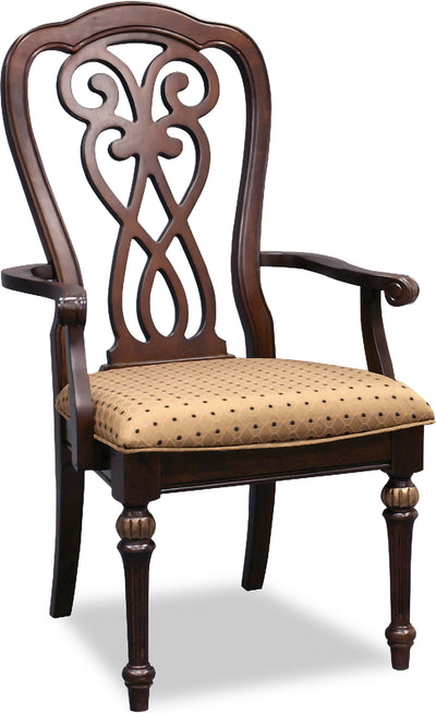 Newcastle Arm Chair - Country style Dining Chair in Brown Oak/Golden