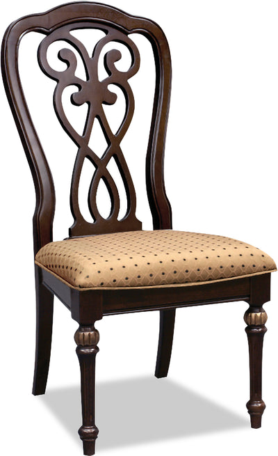 Newcastle Side Chair - Traditional style Dining Chair in Brown Oak/Golden