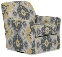 Designed2B Fabric Swivel Accent Chair - Butter