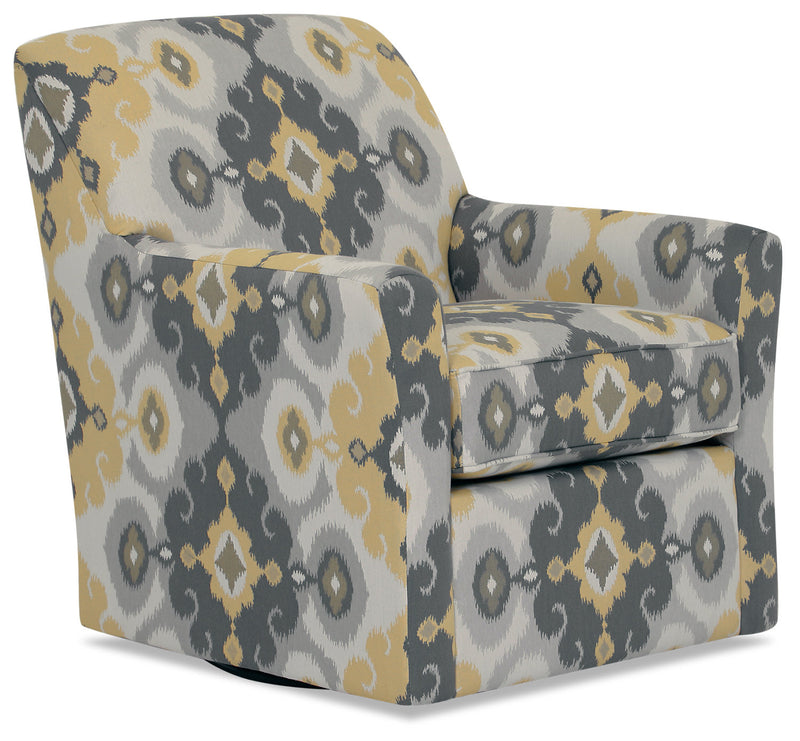 Designed2B Fabric Swivel Accent Chair - Butter|Fauteuil d'appoint pivotant Design à mon image en tissu - Beurre