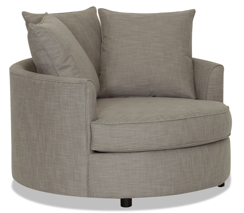 Designed2B Linen-Look Fabric Nesting Accent Chair - Cabo Smoke - {Contemporary} style Chair in Cabo Smoke {Solid Hardwoods}