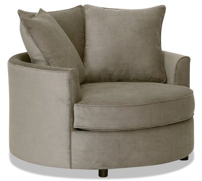 Designed2B Textured Polyester Nesting Accent Chair - Plush Ecru|Fauteuil d'appoint rond de la collection Design à mon image en polyester - Plush écru|16072779
