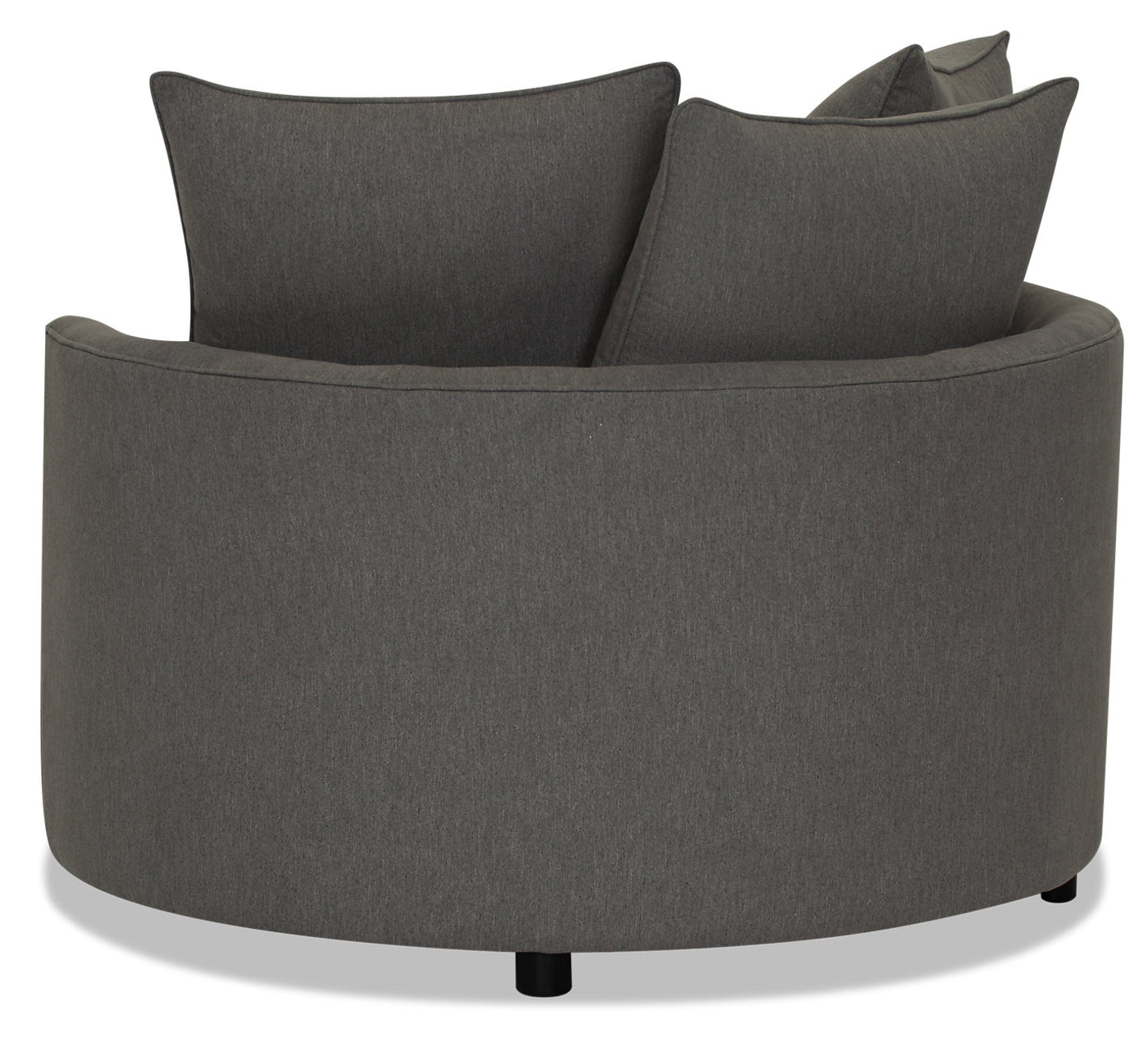 Designed2b Chenille Nesting Accent Chair Milo Charcoal