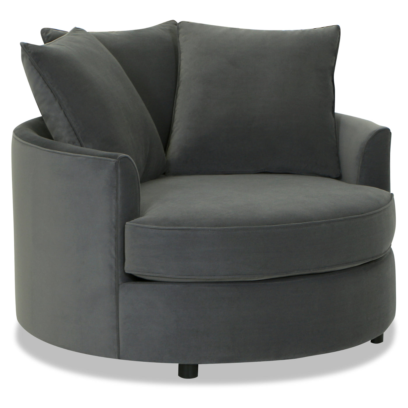 Incredible Designed2B Velvet Nesting Accent Chair Kira Grey Onthecornerstone Fun Painted Chair Ideas Images Onthecornerstoneorg
