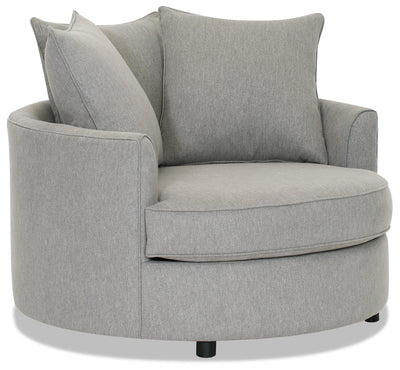 Designed2B Chenille Nesting Accent Chair - Milo Linen - {Contemporary} style Chair in Milo Linen {Solid Hardwoods}