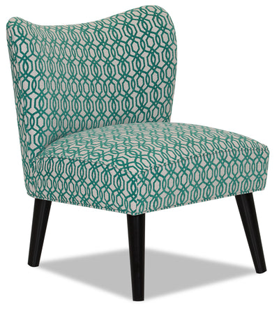 Designed2B Fabric Curved Back Low-Profile Accent Chair - Lagoon|Fauteuil d'appoint à profil bas Design à mon image en tissu avec dossier arrondi - Lagon|18061833