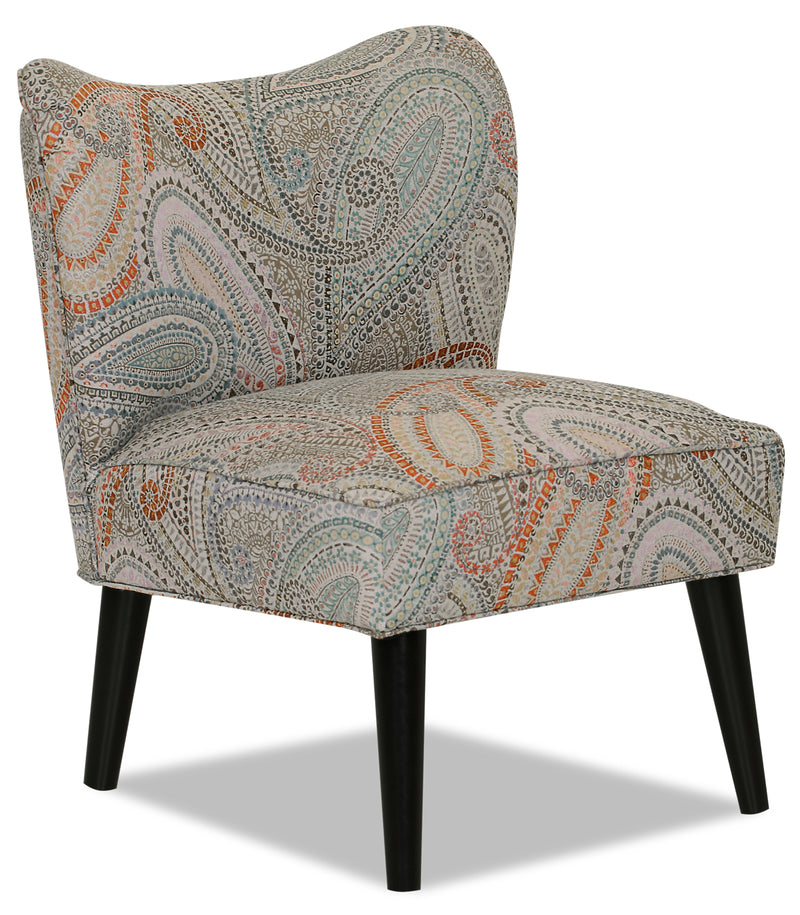 Designed2B Fabric Curved Back Low-Profile Accent Chair - Eden - {Retro}, {Modern} style Chair in Eden {Solid Hardwoods}