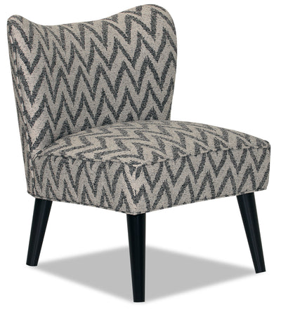 Designed2B Fabric Curved Back Low-Profile Accent Chair - Ocean - {Retro}, {Modern} style Chair in Ocean {Solid Hardwoods}