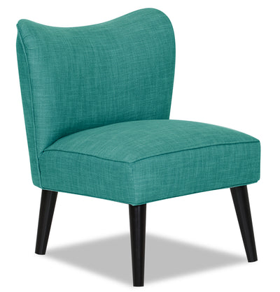 Designed2B Chenille Curved Back Low-Profile Accent Chair - Milo Teal