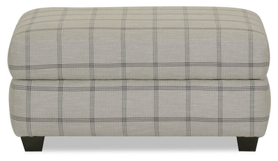 Designed2B Fabric Rectangular Storage Accent Ottoman - Fog - {Contemporary} style Ottoman in Fog {Solid Hardwoods}