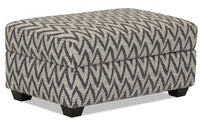 Designed2B Fabric Rectangular Storage Accent Ottoman - Ocean