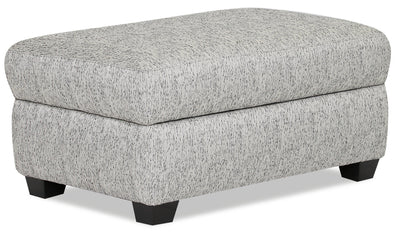 Designed2B Fabric Rectangular Storage Accent Ottoman - Spa - {Contemporary} style Ottoman in Spa {Solid Hardwoods}