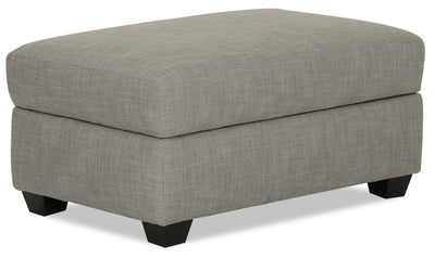 Designed2B Linen-Look Fabric Rectangular Storage Accent Ottoman - Cabo Silver