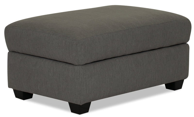 Designed2B Chenille Rectangular Storage Accent Ottoman - Milo Charcoal
