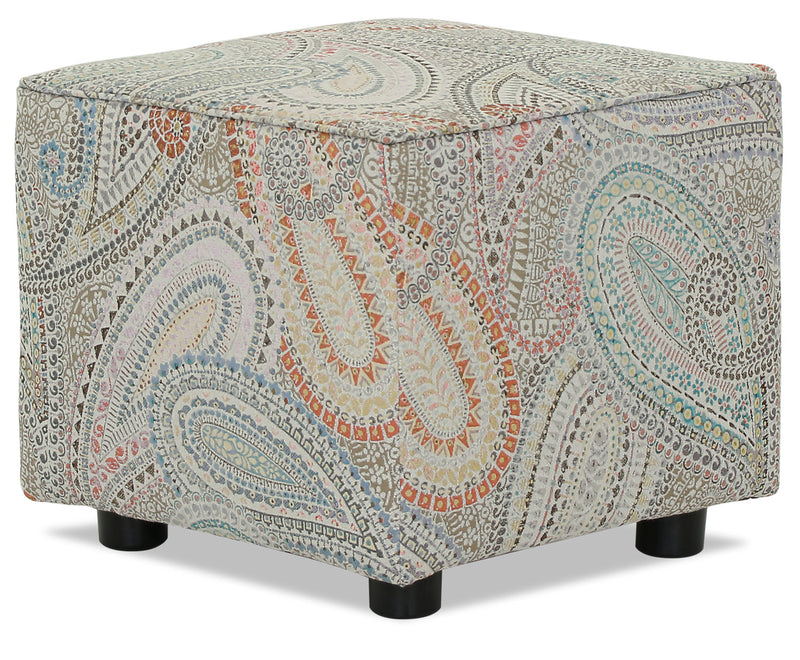 Designed2B Fabric Pod Accent Ottoman - Eden - {Contemporary}, {Eclectic} style Ottoman in Eden {Solid Hardwoods}