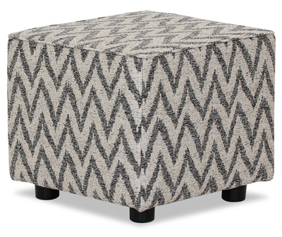 Designed2B Fabric Pod Accent Ottoman - Ocean - {Contemporary} style Ottoman in Ocean {Solid Hardwoods}