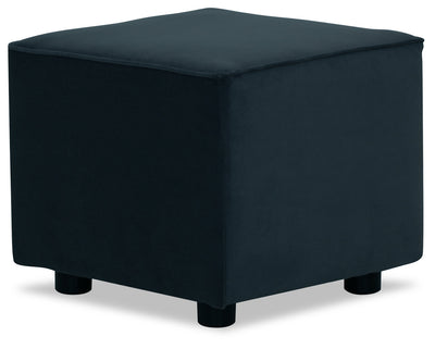 Designed2B Velvet Pod Accent Ottoman - Kira Royal - {Contemporary} style Ottoman in Kira Royal {Solid Hardwoods}