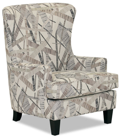 Designed2B Fabric Curved Wing Accent Chair - Earth - {Traditional} style Chair in Earth {Solid Hardwoods}