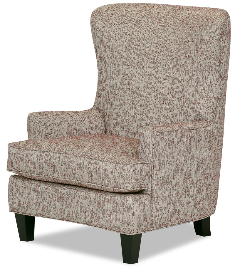 Designed2b Fabric Curved Wing Accent Chair Licorice The Brick