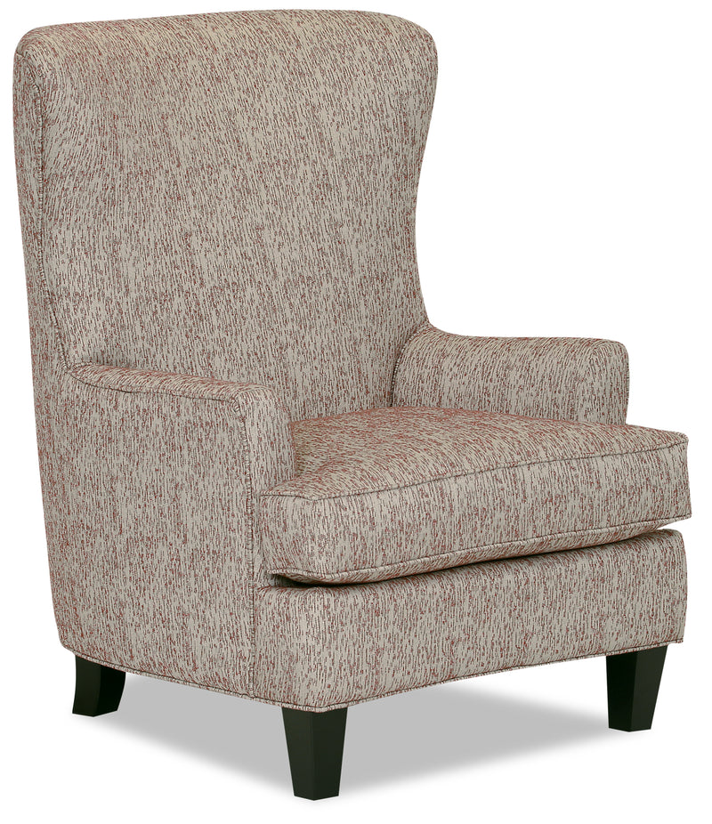 Designed2B Fabric Curved Wing Accent Chair - Licorice - {Traditional} style Chair in Licorice {Solid Hardwoods}