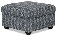 Designed2B Fabric Square Storage Accent Ottoman - Azure