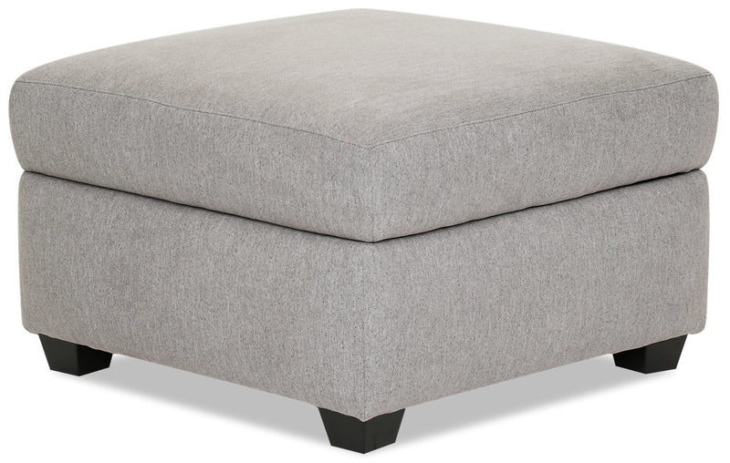 Designed2B Chenille Square Storage Accent Ottoman