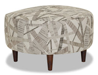 Designed2B Fabric Round Accent Ottoman - Earth