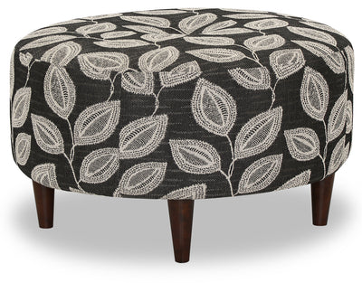 Designed2B Fabric Round Accent Ottoman - Mica - {Modern}, {Retro} style Ottoman in Mica {Solid Hardwoods}