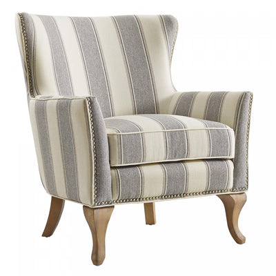 Arizona Accent Chair - Grey Stripe |  Fauteuil d'appoint Arizona - rayé gris  |  D261Y1W4
