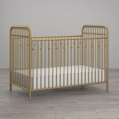 Monarch Hill Ivy Metal Baby Crib - Gold |  Lit de bébé Ivy Monarch Hill en métal - doré  |  D25L5G8G