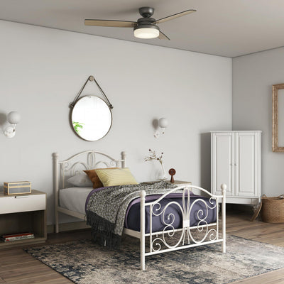 Bradford Metal Twin Bed - White |  Lit simple Bradford en métal - blanc  |  D259M71W