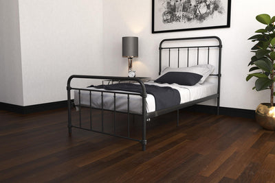 Wyn Metal Twin Bed - Black | Lit simple Wyn en métal - noir | D27AMUBX |  |