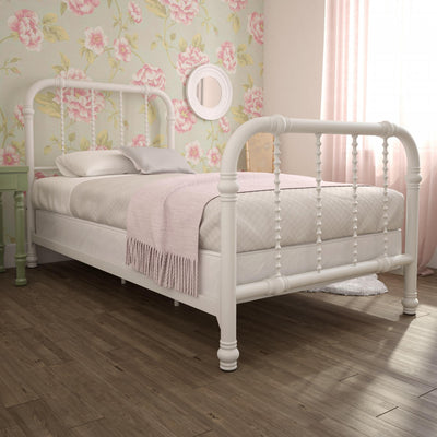 Krissy Twin Metal Bed - White |  Lit simple Krissy en métal - blanc  |  D25N0GZL