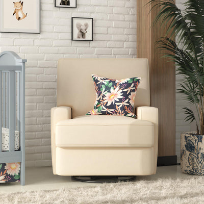 Rufus Swivel Glider Recliner Chair - Beige |  Fauteuil pivotant, coulissant et inclinable Rufus - beige  |  D24Q87Z6