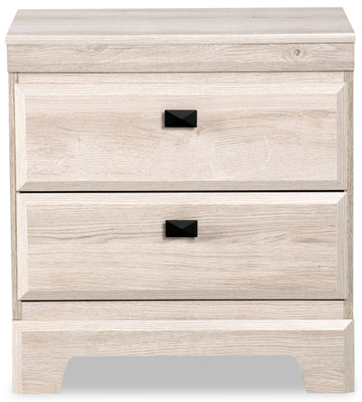 Yorkdale White Nightstand - Contemporary style Nightstand in White Engineered Wood