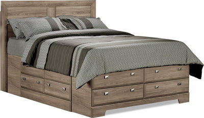 Yorkdale Light Full Platform Storage Bed|Lit double de rangement Yorkdale - clair|268FSBED