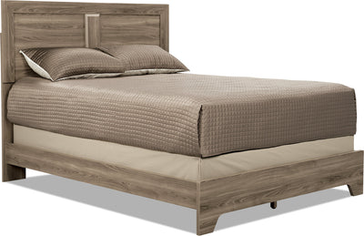 Yorkdale Light Queen Panel Bed - Contemporary style Bed in Glad Birch Engineered Wood and Laminate Veneers