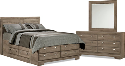 Yorkdale Light 5-Piece Queen Storage Bedroom Package