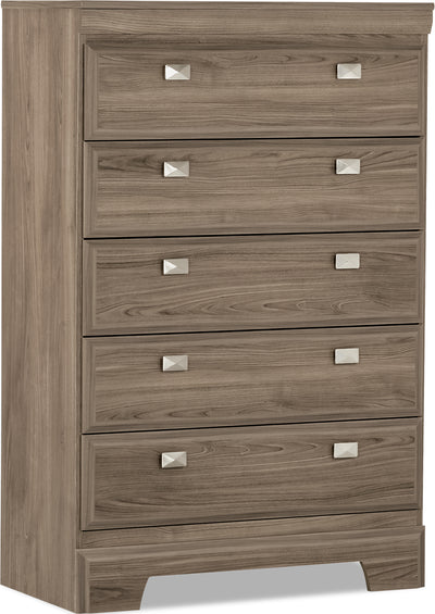 Yorkdale Light Chest - Contemporary style Chest in Glad Birch Engineered Wood and Laminate Veneers