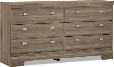 Yorkdale Light Dresser - Contemporary style Dresser in Glad Birch Engineered Wood and Laminate Veneers