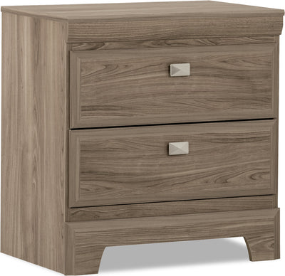 Yorkdale Light Nightstand - Contemporary style Nightstand in Glad Birch Engineered Wood and Laminate Veneers