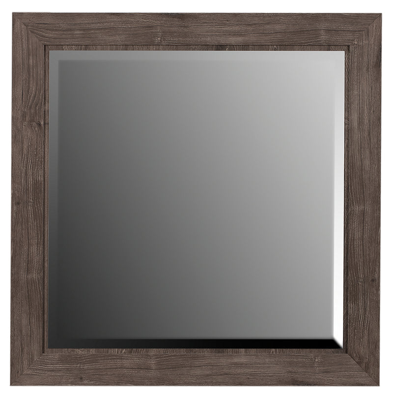 Yorkdale Grey Mirror - {Contemporary} style Mirror in Alabaster Oak {Engineered Wood}